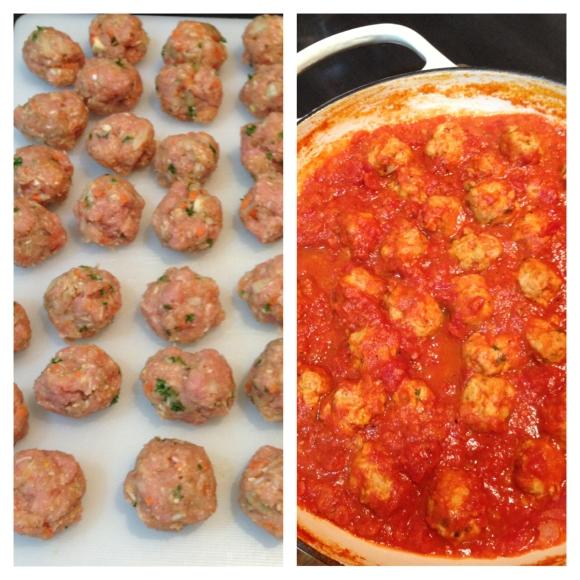 Turkey Meatballs in Tomato Sauce.