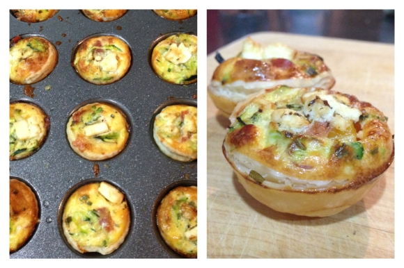 A Moveable Feast - Pumpkin, Zucchini & Fetta  Mini Quiches